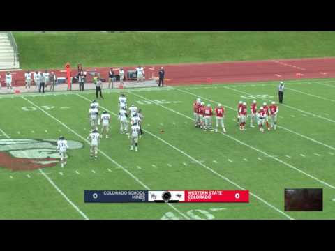 Western State Football | First Half vs. Colorado School of Mines