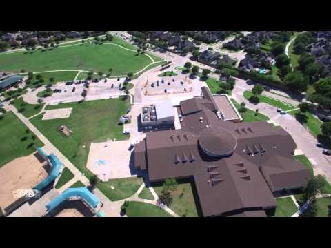 Aerial Shot Of Daffron Elementary School In Plano, Texas