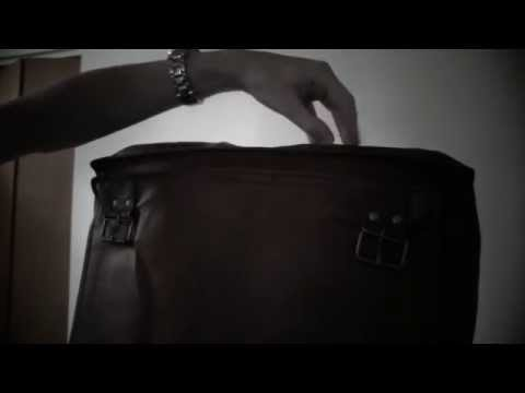 The Leather Laptop Bag Over Your Head (ASMR)