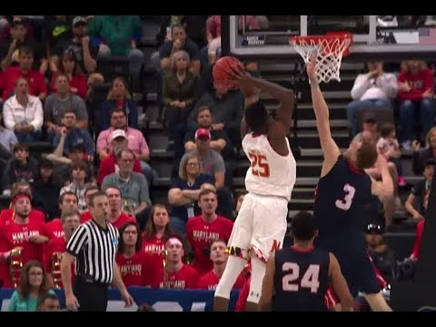 Maryland's Jalen Smith Hammers Viscous Poster Dunk vs. Belmont in the NCAA Tournament