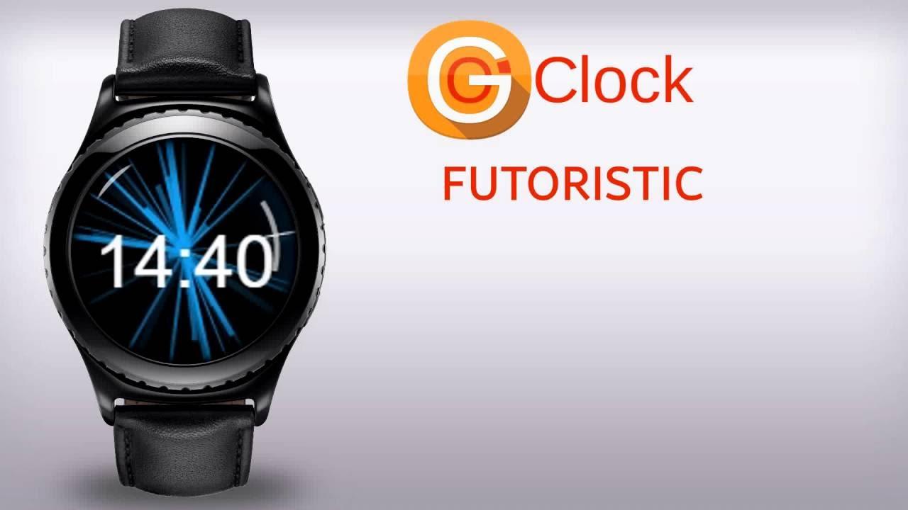 Futuristic Clock Gear Oclock Futuristic Watch Face For Samsung Gear S2 And