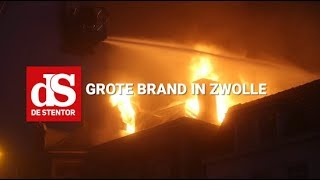 Grote brand in Zwolle