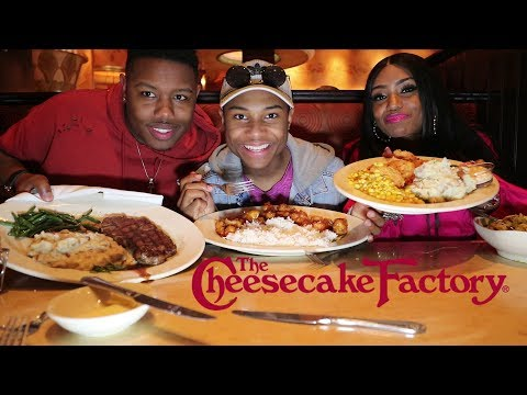 Cheesecake Factory Family Mukbang in St  Louis Galleria Mall