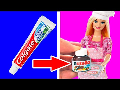 DIY Barbie Miniatures and Hacks   Creative Ideas For Barbie   Fun for Kids
