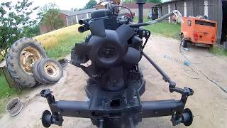 URSUS C-360 PIASKOWANIE   !!!widok z helmu!!!!!     (SANDBLASTING POV)