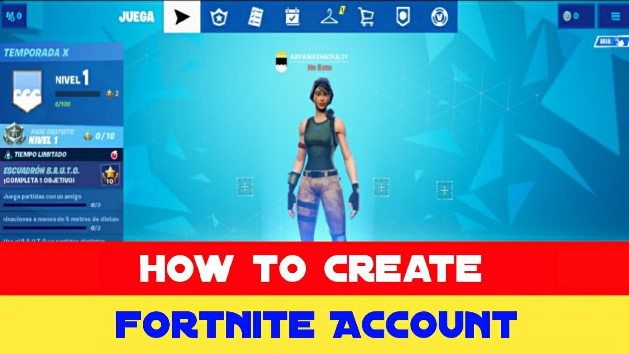 How to Create Fortnite Account 2019 ( Epic Games Account ...