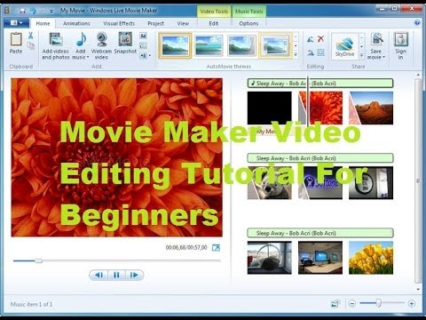 How to use Windows Live Movie Maker For Beginners