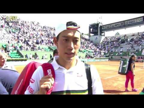 Kei Nishikori 4R on-court  interview | RG17