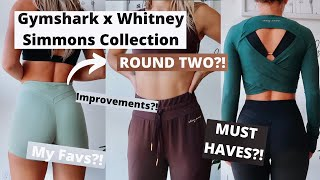 Gymshark x Whitney Simmons Collection ROUND TWO?! | Try on HAUL, My Favs, Improvements. MUST HAVES?!