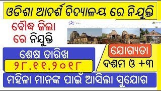 boudha district recruitment odisha job details
