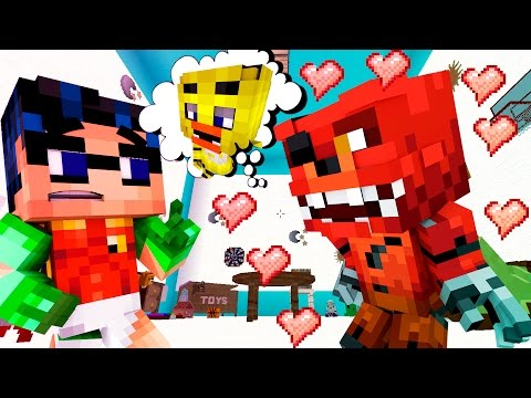 CHICA & FOXY (IN LOVE) GO OUT ON A DATE TOGETHER! w/ Freddy (Minecraft GIGA FNAF Mods Funny Moments)