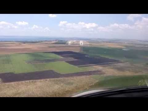 WORLD AIRPORTS: landing on rwy 22 in burgas Bulgaria LBBG