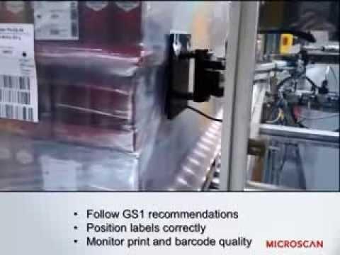 เครื่องตรวจสอบคุณภาพการพิมพ์บนฉลากสำหรับการปิดฉลากบนพาเลท