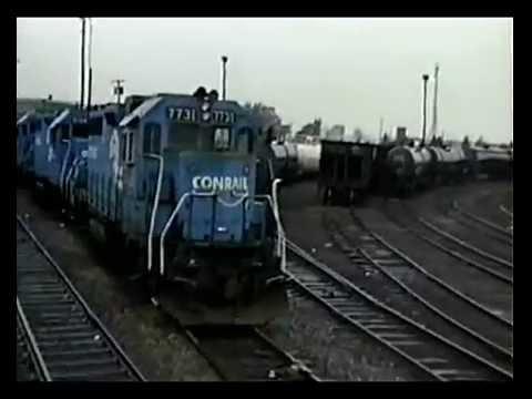 Video 171, Conrail...Camden to Deepwater Point, NJ,  10 Nov 1990