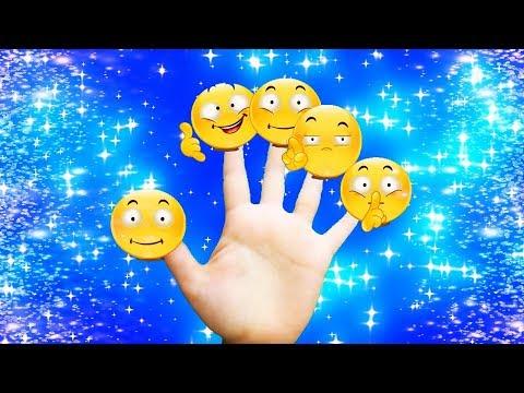 😍 Finger Family Emoji Song / Nursery Rhymes And Kids Songs 😘