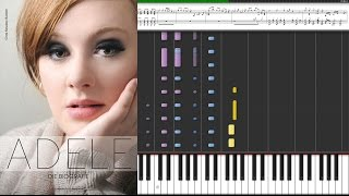 Adele - Rolling in the deep / Piano Tutorial Piano Cover - Sheet Music