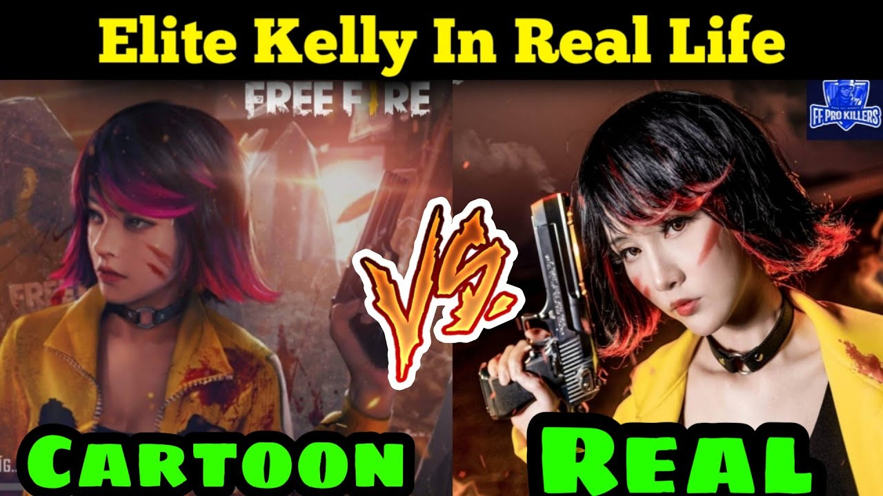 Elite Kelly In Real Life Story Free Fire Elite Kelly Cartoon Vs Real Free Fire Ff Pro Killers Youtube