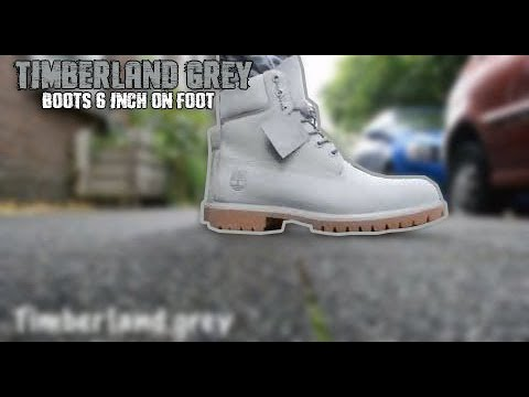Grey Timberland Boots 6 Inch On Feet Review