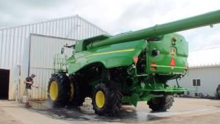 New way of pressure washing John Deere farm equipment#2. Details 800-666-1992 sales@hcsclean.com