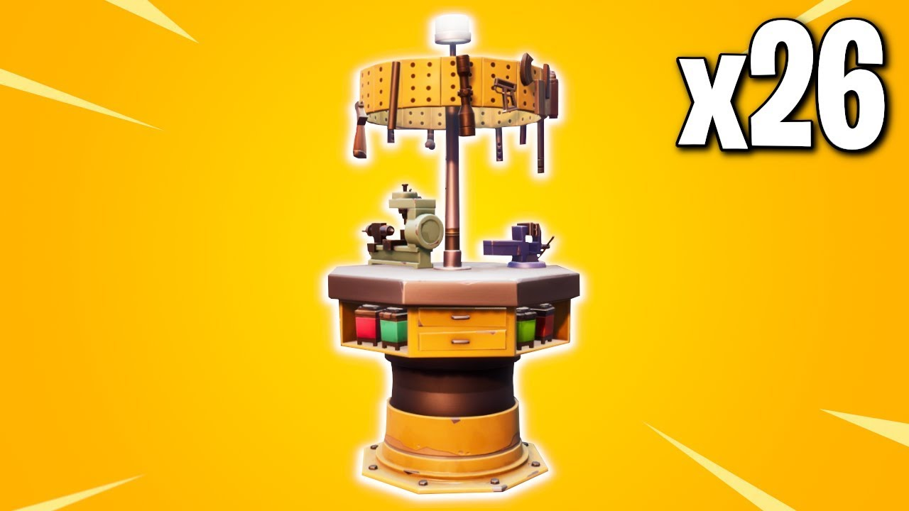 All 26 Upgrade Bench Locations Fortnite