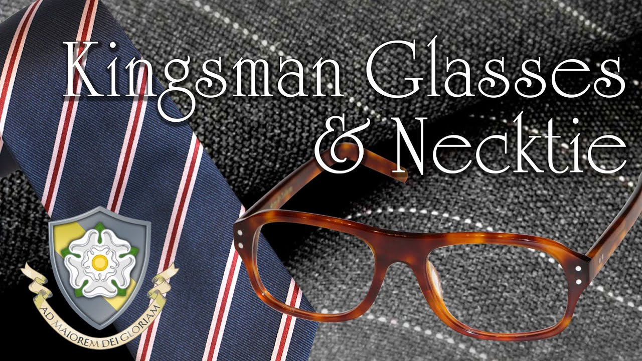 24996a3d93 Magnoli Clothiers Kingsman Glasses   Necktie - YouTube