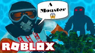 SEA MONSTER Hunting In Roblox! (Roblox Diving Simulator)