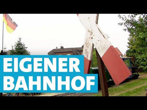 Rentner Baut Mini-Bahnhof Im Eigenen Garten | SWR | Landesschau Rheinland-Pfalz
