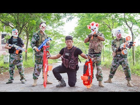 NERF WAR : Special Mission SWAT Warriors Nerf Guns Fight Attack Criminal Group Mask