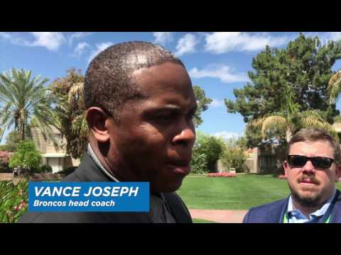 Vance Joseph talks about quarterbacks at the NFL owner