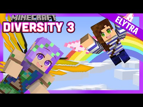 The most MAGICAL Elytra Map - Minecraft Diversity 3 w/ iHasCupquake & StacyPlays - Ep.27