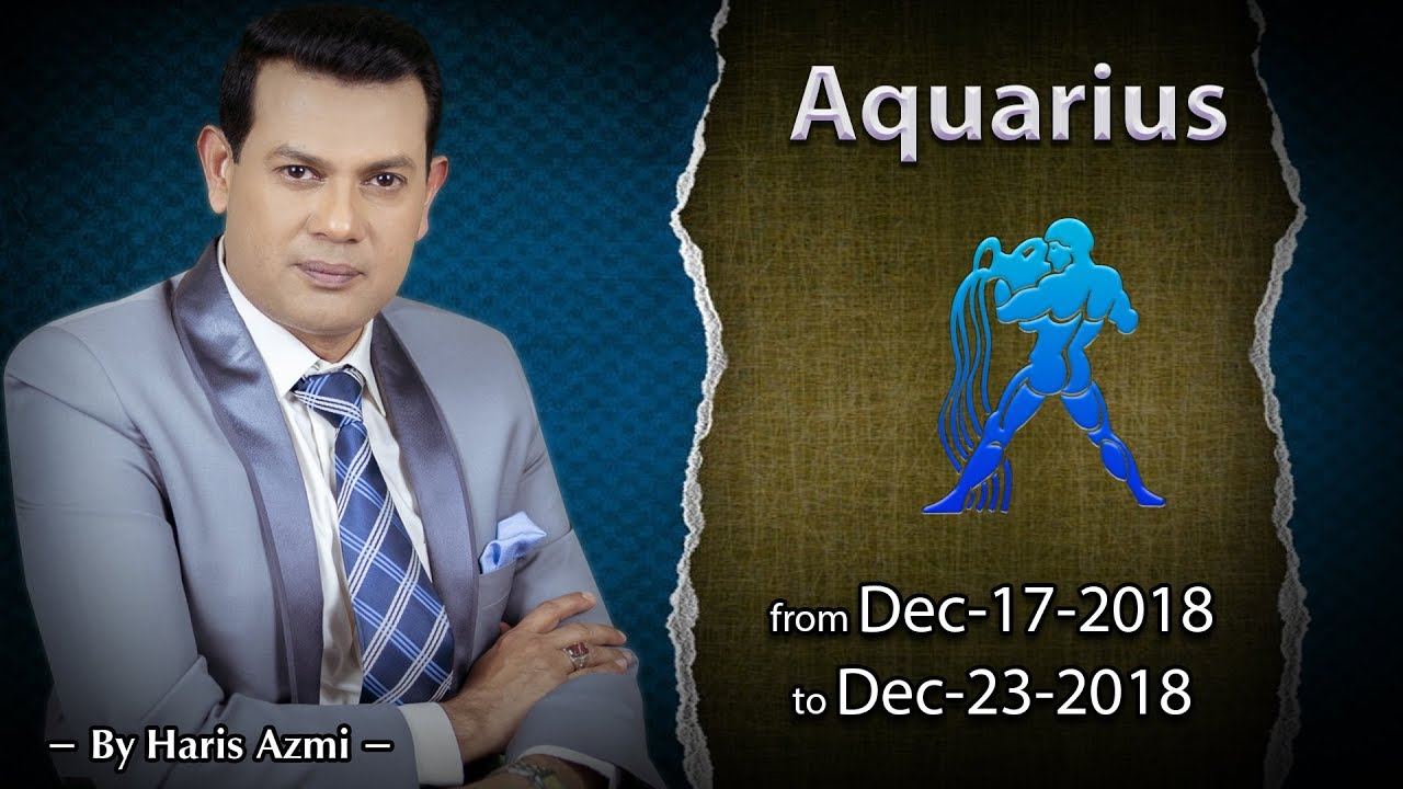 aquarius weekly horoscope from 15 december 2019
