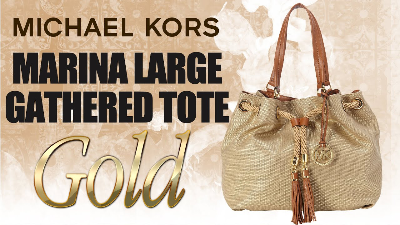 ebea3a500ff6f3 Michael Kors Marina Large Gathered Tote Review - YouTube