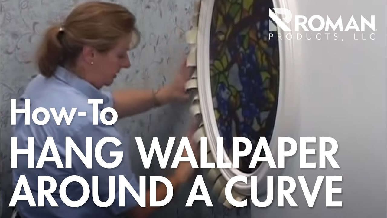 How to wallpaper around a curve youtube - Wallpapering around a curved corner ...