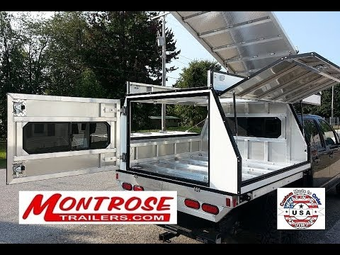 Montrose Trailers Custom Made Flatbed Camper