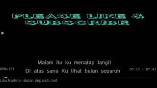 Karaoke Bulan Separuh Lilis Karlina no Vocal HQ Audio