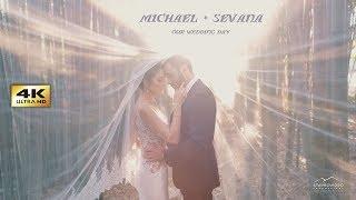 Michael + Sevana's 4K UHD Wedding Highlights at Renaissance st Gregory Church and Arboretum