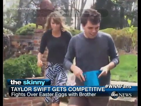 Taylor Swift Hunts for Easter Eggs with Brother