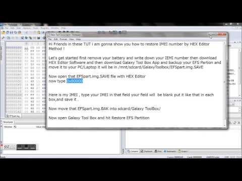 IMEI Restore By using HEX Editor - YouTube
