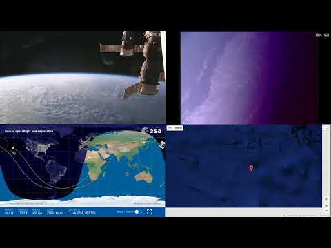 Sunset Over Asia - ISS Space Station Earth View LIVE NASA/ESA Cameras And Map - 73