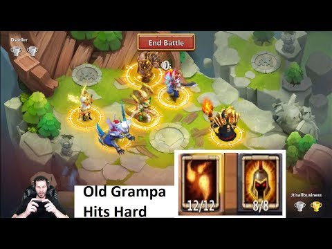 Warlock 12/12 Skill Lost Battlefield ONE SHOTTING Teams Castle Clash