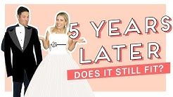 WEDDING DRESS Try On 5 Years Later!! Our Wedding Story + Video