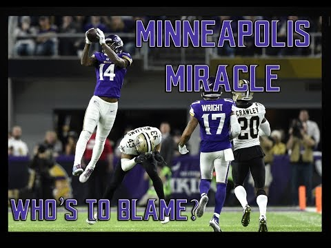 NFL Film Study: Minneapolis Miracle: Who's To Blame? || Saints v. Vikings 2017