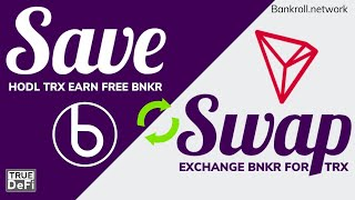 Crypto Hidden Gems   How to Earn A Passive Income with Bankroll Save & Swap   ICX vs TRX Staking