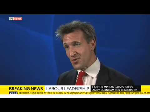 Dan Jarvis Backs Andy Burnham For Labour Leader