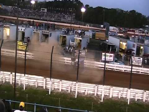 Sprint Car Wreck @ Williams Grove Speedway 5/18/12