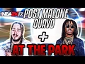 NBA 2K17|Post Malone And Migos(Quavo)Go To Park And FIGHT!!|MUST SEE|