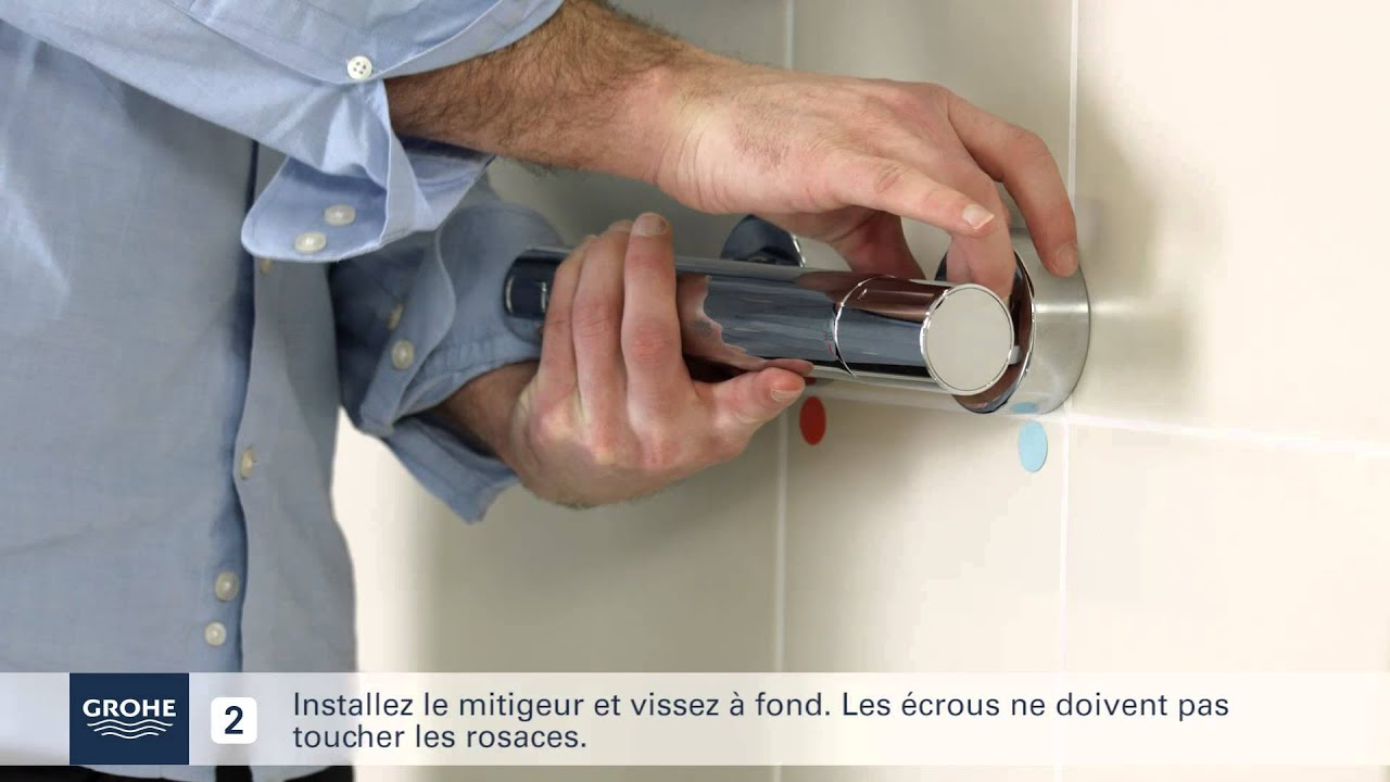 Comment installer facilement un mitigeur thermostatique - Comment installer un rideau de douche ...