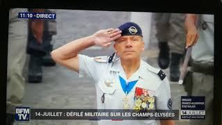 Le CRR-Fr le 14 juillet 2019 sur BFM TV et interview du lieutenant Alexis