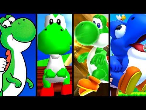 Super Mario Evolution of YOSHI 1990-2012 (SNES to Wii U)