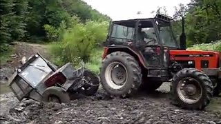 Traktor crash compilation 2015 , tractor stuck 2015